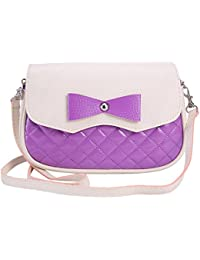 TOOGOO(R) Fashion Women Leather Handbags Bowknot Fashion CrossBody Shoulder Bags Messenger Bags Women Bags£¨Purple£©