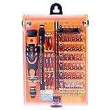Ocamo JAKEMY Kit de Tournevis Professionnel 52 en 1 avec kit Multi-Outils pour Montres téléphones, Ordinateur de Maintenance électronique (Orange)