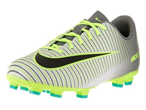Nike JR MERCURIAL VAPOR XI FG - Scarpe da ginnastica da Bambino, Colore Argento (pure platinum/black-ghost green), Taglia 35