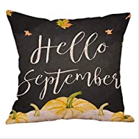MDZZ Pillow case Halloween Pillow Case Top Pumpkin Vase Happy Fall Throw Pillow Case Cotton Linen Halloween Pillow Housse De Coussin #R15 45x45cm E
