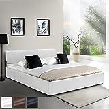 MIADOMODO Kunstlederbett 160x200cm mit integriertem Lattenrost und Bettkasten in 3
