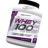 100% Whey Protein 600g - 100% de proteína de suero - Slim Body / Control de Peso - Bajo en calorías batido de proteínas - ganar músculo y Control de Peso - La mejor proteína para construir músculos - Trec Nutrition (galletas - crema)