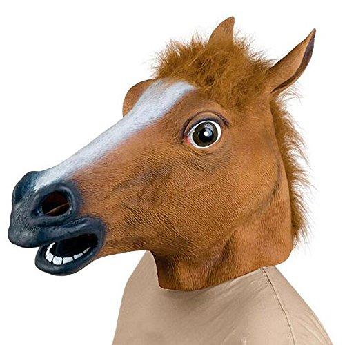 Carryme Pferdemaske,Pferd Kopf Maske Latex Maske Gruselig Gummi Party Halloween Kostüm (Beängstigend Kostüme Erwachsene Für)
