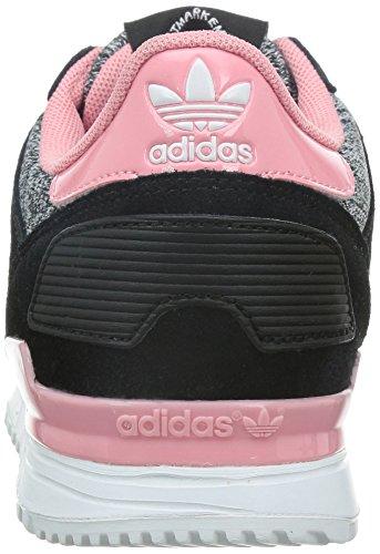 adidas Zx 700 W, Baskets Basses Femme Noir (cblack/ftwwht/suppop)