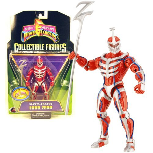 er Rangers Mighty Morphin Series 6 Inch Tall Collectible Action Figure - Super Legends LORD ZEDD with Z Staff ()