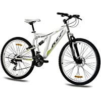 "KCP 26"" MOUNTAIN BIKE ROOSTER with 21 speed Shimano DUAL SUSPENSION UNISEX white - (26 inch)"