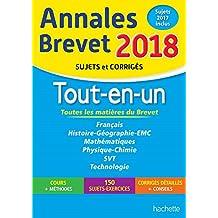 Annales Brevet 2018 - Le Tout-en-un 3ème