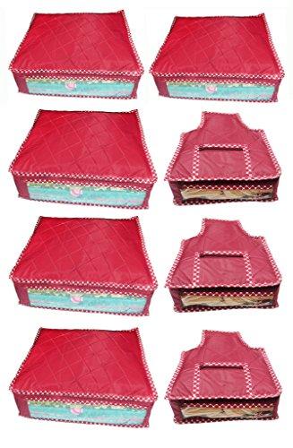 Atorakushon Combo deal-Multipurpose 5pcs saree cover sari cover and 3pcs blouse cover...
