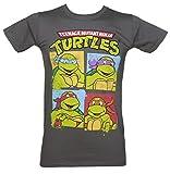 TruffleShuffle Teenage Mutant Ninja Turtles Charaktere Herren T Shirt Schiefergrau