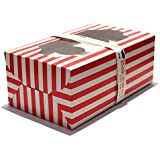 Cupcake Boxes 6 Cavities - Red n White Classics - 20 pcs