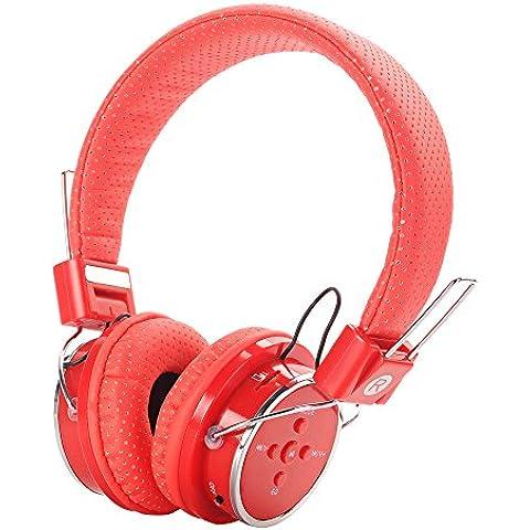 Aita BT817 Auriculares Bluetooth de Diadema Plegable, Bluetooth 4.1 Cascos Estéreo Inalámbrico Wireless Headset con Mic LED Ligero para Manos Libres para iPhone PC Mac Niños y Adultos