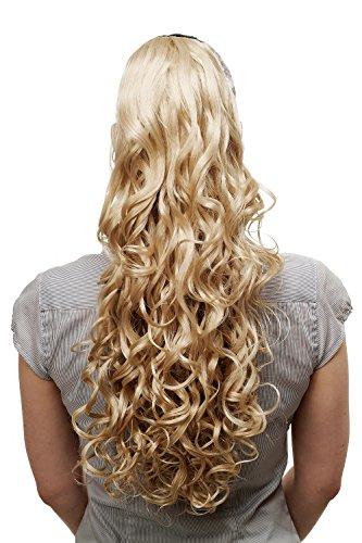 Voluminös wallendes Haarteil/Zopf/Pferdeschwanz, lockig, sehr lang, ca. 60 cm, Blond (Blonde Lange Perücke Mit Einem Zopf)