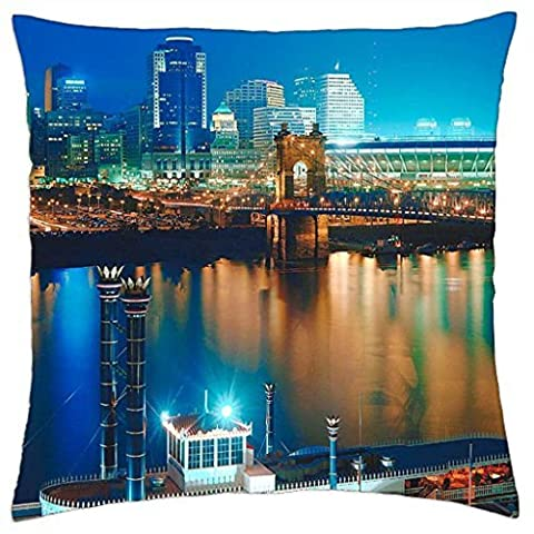 Washington Night View - Throw Pillow Cover Case (18