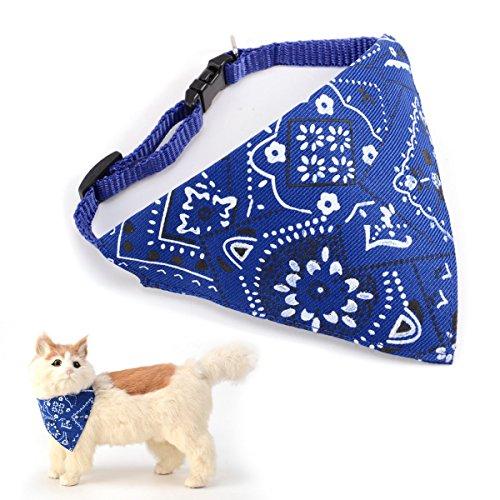 Surepromise Halstuch mit Halsband für Hunde/Katzen, verstellbar, dreieckiges Tuch
