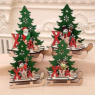 XdiseD9Xsmao 3D Creativo Duradero Navidad Navidad Muñeco De Nieve Ciervo Papá Noel Trineo Rompecabezas DIY Adorno Decoración Ensamblaje Juguete