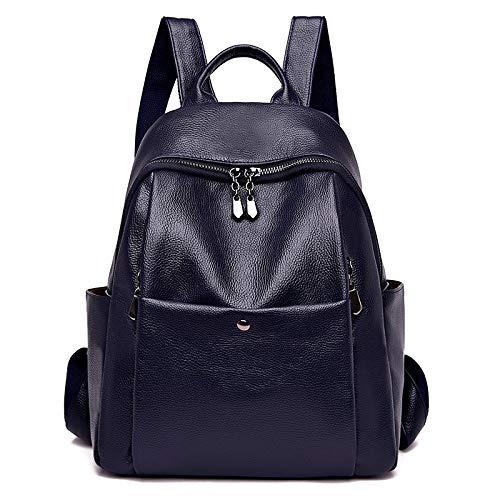 Retro Rucksack europäischen und amerikanischen Trend weiche Oberfläche PU-Leder Jugend Reiserucksack blau