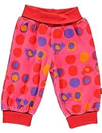 Fixoni fille pantalon taille élastique en velours, Babytales, rose à pois, 31615