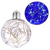 Lampadina LED decorativa E27 a forma di palla Ghirlanda luminosa Outdoor Guinguette romantica per interni per feste natalizie Caffè di Natale cortile 3W (BLU) C146-BLU
