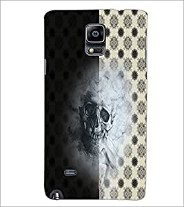 PrintDhaba Skull D-4942 Back Case Cover for SAMSUNG GALAXY NOTE 2 (Multi-Coloured)
