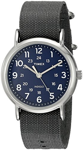 Timex Unisex TW2P657009J Weekender Silver-Tone Watch with Grey Nylon Band  available at amazon for Rs.4575