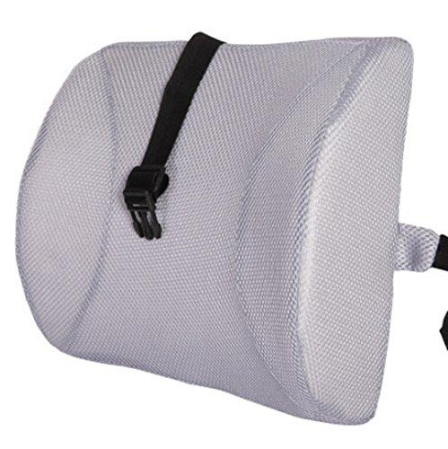 Gray High Resilient Memory Foam Seat Coussin de soutien Oreiller de voitures Bureau Retour Soutien