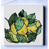 Zitronen - Keramikfliese ,Handve