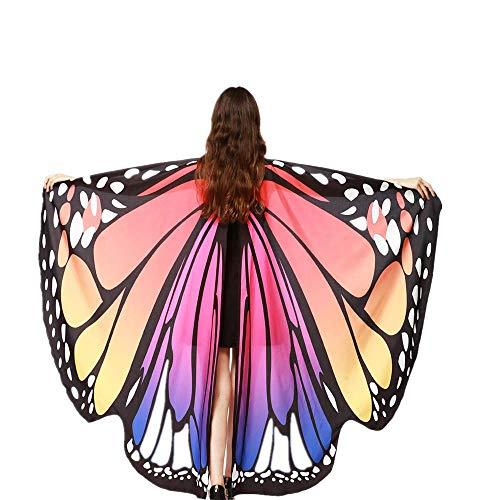 Ranger Herr Kostüm Ringe Der - VRTUR Damen Schmetterling Lange Flügel Kap Weich Schal Chiffon Schals Wickeln Nymphe Kostüm Cosplay Karneval Geschenk