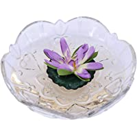 Premsons® Decorative Artificial Floating Lotus Flowers for Home Garden Party Decoration - Purple (Pack of 1)