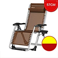 YY_C1 Cama Plegable Cama Individual Lunch Break Simple Silla de salón Plegable Lunch Camp Bed (Color : Brown)