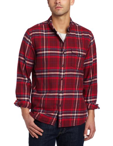 lucky-brand-chemise-casual-manches-longues-homme-rouge-l-l
