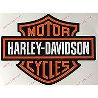 Harley Davidson - Par de pegatinas con escudo y logotipopara el depósito, el casco o superficies lisas