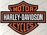 Logo Aufkleber Harley Davidson, 2 Aufkleber. Für Tanks, Helme und glatte Oberflächen.