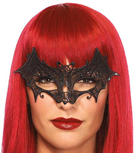 Leg Avenue 3730 - Venezianischen Augenmaske - Einheitsgröße, schwarz (Juan Halloween Kostüm)