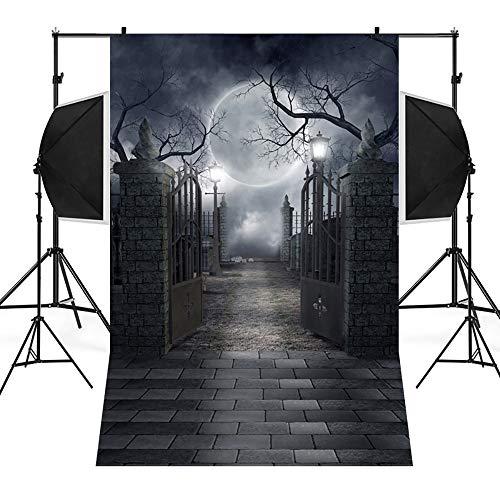 Wawer 3D Fotografie Hintergrund, Halloween Backdrops Kürbis Vinyl 3x5FT Kamin Hintergrund Fotografie Studio