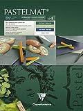 Clairefontaine 96113C Pastelmat bloc collé 12F 18x24cm 360g carte pour pastel Vert Foncé, Vert Clair, Bleu Foncé, Blanc