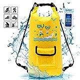 BUBOS Sac étanche, Sacs Rafting Durable imperméable 15 litres Sac à Sec avec Le téléphone étanche Cas Sac pour Le Kayak, la randonnée, Le Camping, Le Ski, la Natation, sur la Plage, Sports Nautiques