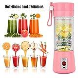 Juicer de fruit électrique par Gaddrt, portable USB Smoothie Maker mélangeur de jus de bouteille Shaker (Rose)