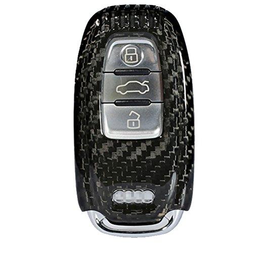 Remote-start-audi (FancyAuto Hülle für 3 Tasten Autoschlüssel Keyless Schlüssel Schutzhülle Schlüsselhülle Cover Auto für Audi A4L A5 A6L A7 A8L Q5 (Black))