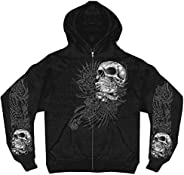 Hot Leathers Men's Sweet Demise Zip Up Hooded Sweat S