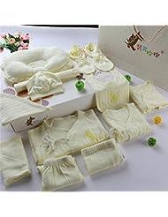 SHISHANG Caja de regalo del bebé Sistema 100% puro del bebé de la luna llena del algodón determinado fijado (sistema de 18 pedazos) Muchacha del muchacho cuatro estaciones para el bebé 0-1-Year-old , B