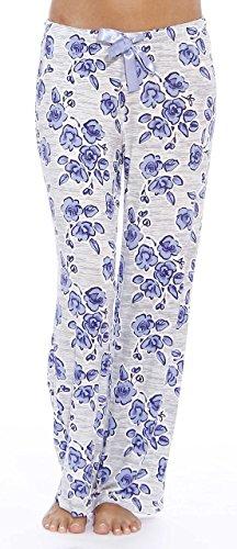 Sexy Loungewear (Christian Siriano New York Damen Schlafanzughose Gr. Small, blau, blumenmuster)