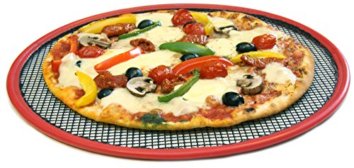 Antihaft-Mesh Pizza Ofen Frischeres Pfanne mit Silikon Rand Bezüge/35,6cm Durchmesser Airbake Pizza Pan