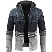 LuckyGirls Suéter Punto Abrigos para Hombre Rayas Color de Mezcla Cárdigans Chaquetas de Deportivas Jacket Casual Chándales