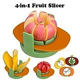 Cherishly 4-in-1-Multifunktions-Obstschneider Apfel Birne Tomate Orange Pitaya Mango Gemüsescheibe Formschneider Mit Common Base Kitchen Slicer Tool
