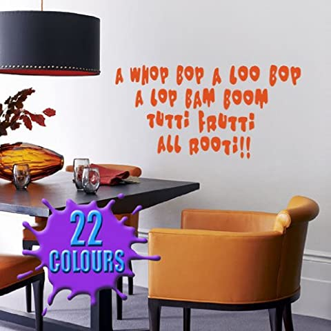 Un whop Bop un Loo Bop (Little Richard) Paroles Sticker mural avec citation (Taille M)