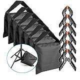 Neewer 6-Paquete Bolsa de Arena Resistente (Negro) para Soportes de Luces Boom Arms Estudio Foto con Clip de Muselina de 6 Paquetes Pinza de Resorte (Bolsa de Arena Vacía)
