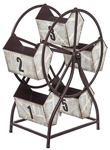 Cape Handwerker Metall Riesenrad mit rotierendem Lagerkästen (Handwerker Wohnzimmer Schrank)