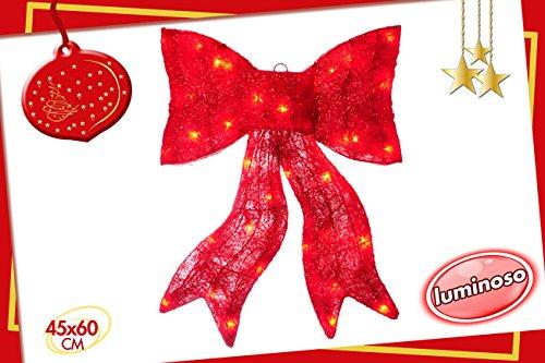 iesige rote Bogen hängen im Abaca mit Lichtern ()
