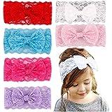 37YIMU® 6-pack Color surtido bebé niñas lujosa encaje diadema sombrero Bowknot cabello accesorios