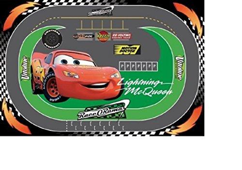 Kinder Teppich Kinderteppich mit Rennstrecke Disney Cars Mc Lightning / Teppich / Kinder Teppich /...